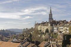 往市的全视图伯尔尼,瑞士 库存图片