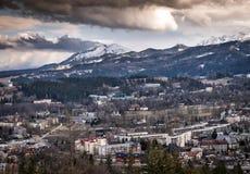往扎科帕内和Belianske Tatry山的看法 库存照片