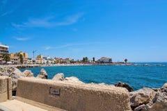往海滩的看法 免版税库存照片