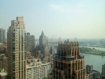 往皇后区大桥的看法 免版税库存照片