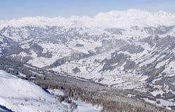 往视图苏黎世的2007 klosters 图库摄影