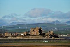 往Piel海岛坎布里亚郡英国的看法 免版税图库摄影