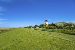 往Westermarkelsdorf灯塔的看法  库存照片