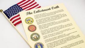 征募誓言美利坚合众国 库存图片
