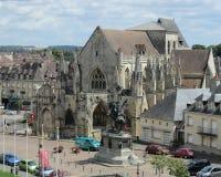 Falaise,法国看法  库存图片