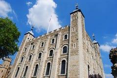 1066年征服者被架设的第一入侵伦敦诺曼底塔是空白威廉岁月 免版税库存图片
