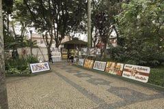 绘画待售在Embu das阿特斯 免版税库存图片