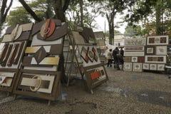 绘画待售在Embu das阿特斯 免版税库存照片