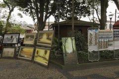 绘画待售在Embu das阿特斯 库存照片