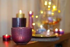 很多不同的蜡烛 免版税图库摄影