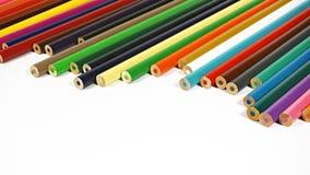 很多五颜六色的铅笔 库存照片