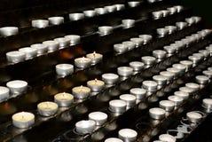 很多小蜡烛 免版税图库摄影