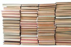 很多旧书 免版税库存图片