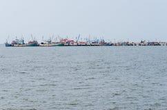 很多渔夫小船 免版税库存照片