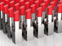 很多红色唇膏 向量例证