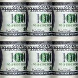 很多美元的无缝的样式 免版税库存照片