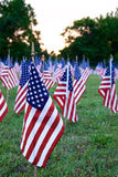 很多美国国旗 免版税库存照片