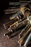 很多葡萄酒钥匙 免版税图库摄影