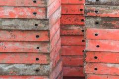 很多建筑工地模板 库存照片