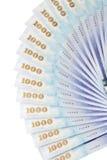 很多1000新台币票据 图库摄影