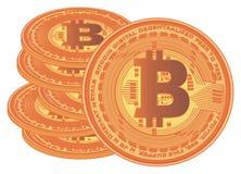 很多bitcoins 免版税库存图片