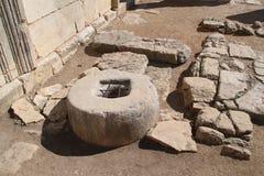 很好在Baram古老犹太教堂,以色列 免版税库存图片