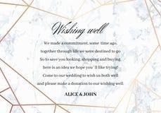 很好婚姻祝愿卡片 设计几何 库存照片