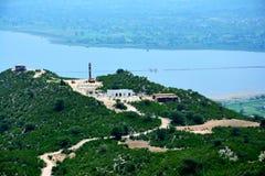 很快谷的,巴基斯坦Uchali湖 库存图片