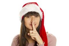 很快Shhhhh圣诞节 免版税图库摄影