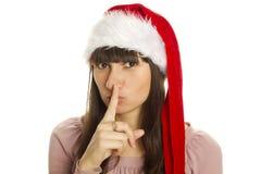 很快Shhhhh圣诞节 免版税库存照片