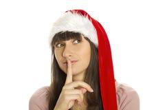 很快Shhhhh圣诞节 图库摄影
