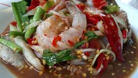 很辣的Thaifood 免版税图库摄影