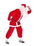 很远圣诞老人神色 免版税图库摄影