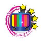 很逗人喜爱电视明亮的颜色 免版税库存图片