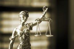 律师事务所法律雕象 库存照片