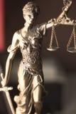 律师事务所法律雕象Themis 免版税库存图片