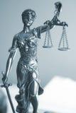 律师办公室雕象Themis 库存照片