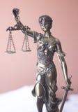 律师办公室雕象Themis 免版税库存图片