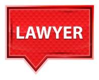 律师有薄雾的淡粉红色横幅按钮 向量例证