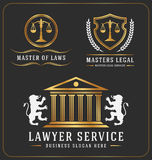 律师服务办公室商标模板 免版税库存照片