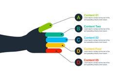 徒手画的五颜六色的Infographic设计 库存例证