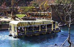 徒步旅行队乘驾在Everland,韩国 库存照片