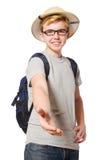 徒步旅行队帽子的人 免版税库存图片