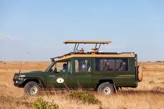 徒步旅行队汽车,非洲 库存图片
