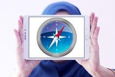 徒步旅行队浏览器商标 免版税库存图片