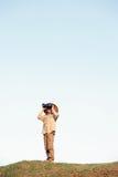 徒步旅行队男孩 图库摄影