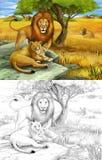 徒步旅行队-狮子 免版税库存图片