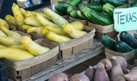得克萨斯农夫` s市场产物菜 免版税图库摄影