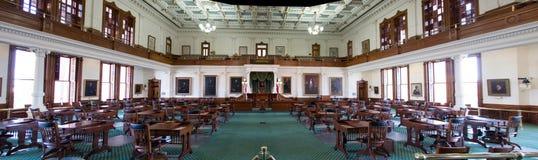 得克萨斯国会大厦参议院的全景  免版税图库摄影