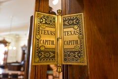 得克萨斯国会大厦铰链 免版税库存照片